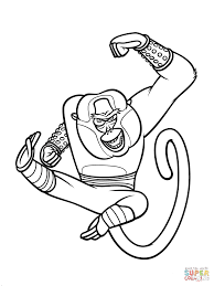 coloring pages fancy kung fu panda coloring pages master monkey