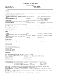 Actor Resume Format Sample Audition Resume Resume Cv Cover Letter