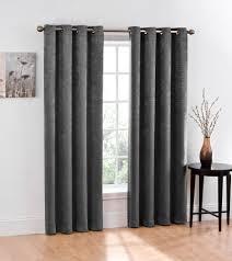 com 2 piece blackout window curtain grommet panels total width 100 x 84 gray home kitchen