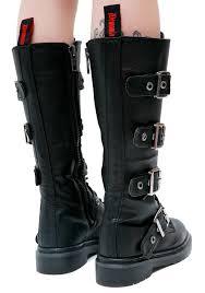 womens tall motorcycle boots demonia fatality tall combat boots dolls kill