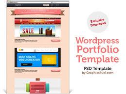 wordpress portfolio psd template psd file free download