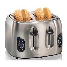 4 Slice Toasters On Sale Hamilton Beach 4 Slice Digital Toaster 24702