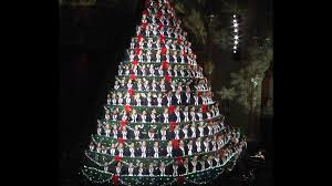 christmas trees made of beer kegs and people photos of 15