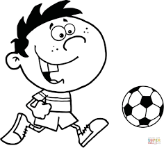 young boy soccer player coloring page free printable coloring pages