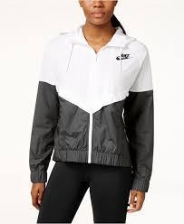 nike wind runner colorblocked jacket in black lyst