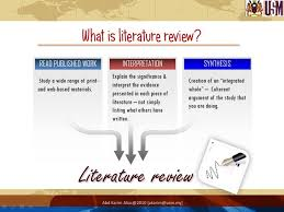 Thesis literature review outline