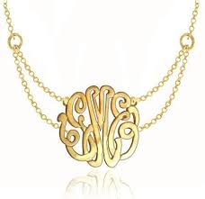 gold plated monogram necklace keti sorely designs 24k gold plated monogram necklace on