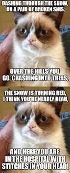 Grumpy Cat Snow Meme - grumpy cat s christmas carol service imgflip