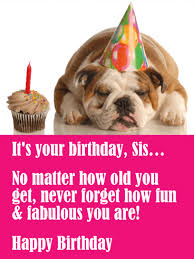 you are fun u0026 fabulous funny birthday card for sister birthday