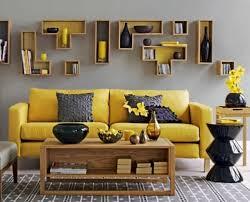 décoration canapé déco salon jaune moutarde