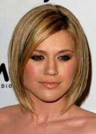 hairstyles that look flatter on sides of head short hairstyles for round face a line bob with side parting