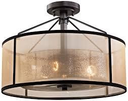 Bronze Semi Flush Ceiling Light by 3 Light Semi Flush Mount In Oil Rubbed Bronze Finish Amazon Com