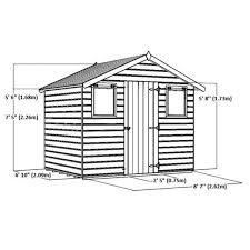 6 x 8 reverse premier tongue and groove apex shed with single door
