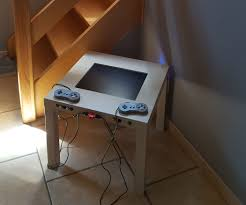 cheap retro gaming arcade table with integrated display 7 steps