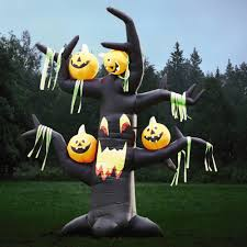 Halloween Outdoor Inflatables by Airblown Inflatable Halloween Tree With Pumpkins Christmas Tree