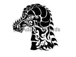tribal dragon head tattoo design 1 by fainespades on deviantart