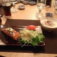 cuisine du soir menu du soir 23 plat3 saumon teriyaki et riz picture of nagomi