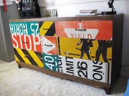 revamp old dresser with road signs dresser room and kids rooms