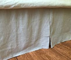 Shabby Chic Bed Skirts by Amazon Com Stone Grey Ticking Striped Tailored Bedskirt Light