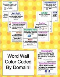 this common core math vocabulary word wall will help your students