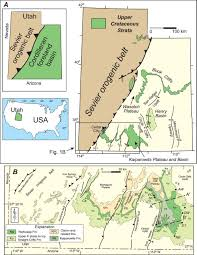 Map Of Southern Utah Late Cretaceous Fluvial Megafan And Axial River Systems In The