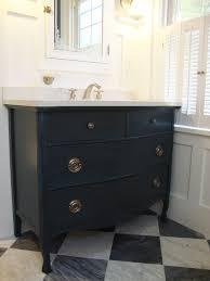 Silestone Vanity Top Avenue Centrale Vanity Is A Repurposed Antique Serpentine Dresser
