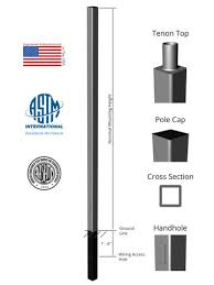 used aluminum light pole for sale 10 above grade x 4 0in od x 0 125in thick square straight aluminum