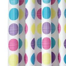 Yellow And Purple Curtains Best Blue Polka Dot Shower Curtain Products On Wanelo