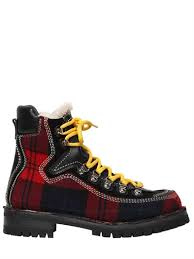 buy s boots canada dsquared2 40mm canada plaid hiking boots black dsquared2