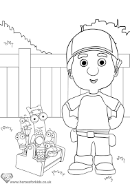 handy manny coloring pages handy manny tools coloring pages