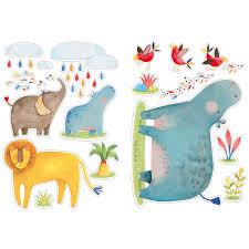 stickers animaux chambre bébé stickers animaux les papoum moulin roty berceau magique