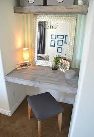 Bedroom Corner Desk Small Corner Desk From Distressed Looking Wood In Bedroom With A