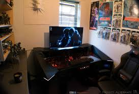 Video Gaming Desk by Guy Spends 6800 Building A Killer Gaming Pc Directly In A Desk