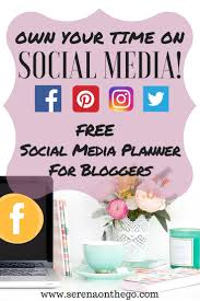 social media planning for bloggers maximize your productive time