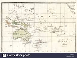 Map Of Oceania Map Of Oceania And The Southern Pacific By Bartolomeo Borghi Stock