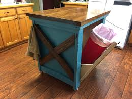 kitchen island trash bin kitchen island trash bin a tilt out garbage and recycling