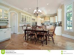kitchen with eating area and island stock photography image 9173402