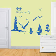 Decoration Kids Wall Decals Home by Aliexpress Com Buy Vinyl Wall Stickers Home Decor Sailboat