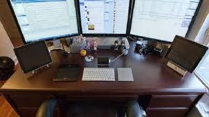 computer desk for dual monitors computer desk for dual monitors 11733 regarding contemporary
