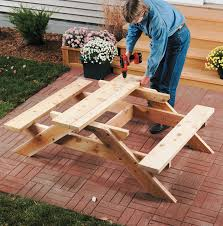Build Wooden Picnic Table by Childrens Picnic Table 3 Wood Builds Pinterest Picnic Tables