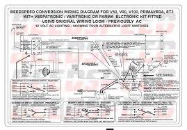 modern vespa wiring help confused