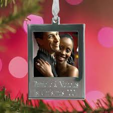 photo ornaments hanging picture frame ornament winter