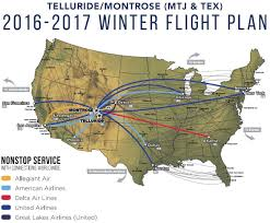 Allegiant Route Map by Montrose Regional Airport Visit Montrose Co