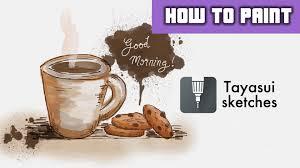 how to paint cookies u0026 coffee in water color digital painting
