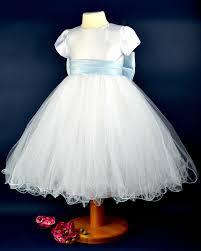 white and ice blue flower christening dress u0027betty