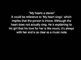 stereo hearts u0027 figurative language analysis metaphors and smilie