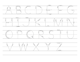 Free Alphabet Tracing Worksheets Printable Traceable Alphabet Letters Activity Shelter