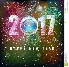new year s day cards happy new year greeting card 2017 stock illustration illustration