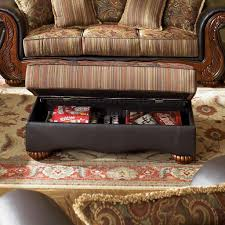 Faux Leather Living Room Furniture by Classic Living Room Savona U141 Brown