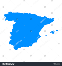 Blank Map Of Spain by High Detailed Blue Map Spain Vector Stock Vector 537479773